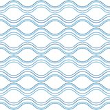 Abstract wavy lines, seamless pattern vector illustration