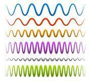 Abstract, wavy lines Stock Image