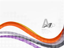 Abstract wavy lines with transparent dots Stock Photo