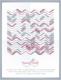 Abstract wavy lines vector illustration. Graphic template, adver Stock Photos