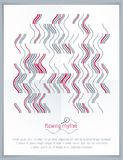 Abstract wavy lines vector illustration. Graphic template, adver Royalty Free Stock Photo