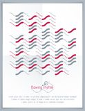 Abstract wavy lines vector illustration. Graphic template, adver Royalty Free Stock Photos
