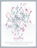 Abstract wavy lines vector illustration. Graphic template, adver Stock Photo