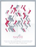 Abstract wavy lines vector illustration. Graphic template, adver Stock Photography