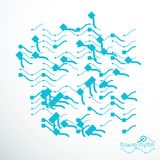 Abstract wavy lines vector illustration. Technical cybernetic pa Royalty Free Stock Photo