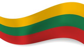 Abstract  wavy Lithuania flag background Stock Photography