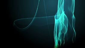 Abstract wavy motion background stock video footage