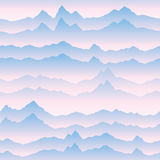 Abstract wavy mountain skyline background. Nature landscape Royalty Free Stock Image