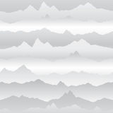 Abstract wavy mountain skyline background. Nature landscape wint Royalty Free Stock Photo