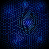 Abstract wavy net with hex cells Stock Photos