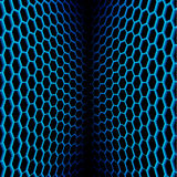 Abstract wavy net with hex cells. Abstract two sided net background with hex cells Royalty Free Stock Photography