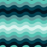Abstract wavy ocean seamless pattern background Royalty Free Stock Images