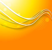 Abstract wavy orange background Royalty Free Stock Photo
