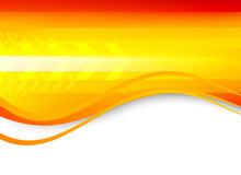 Abstract wavy orange background Stock Photography