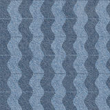 Abstract wavy pattern - seamless background - blue jeans texture Stock Photos