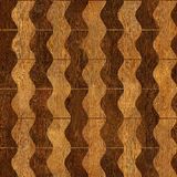 Abstract wavy pattern - seamless background - wooden surface Stock Image