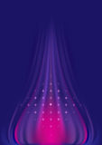Abstract wavy purple pink background with stars. Royalty Free Stock Photo