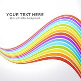 Abstract wavy rainbow background. Royalty Free Stock Images