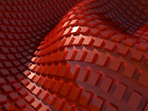 Abstract wavy red background Royalty Free Stock Photo