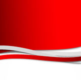 Abstract wavy red background Royalty Free Stock Photos