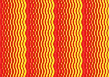 An abstract wavy red and yellow pattern cover design royalty free illustration