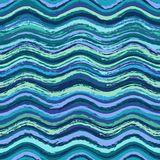 Abstract wavy seamless pattern Royalty Free Stock Image