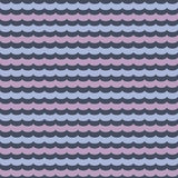 Abstract wavy seamless pattern, vector background Royalty Free Stock Photo
