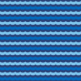 Abstract wavy seamless pattern, vector background Stock Photography