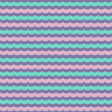 Abstract wavy seamless pattern, vector background. Endless texture can be used for printing onto fabric, paper or scrap booking, wallpaper, pattern fills, web Royalty Free Stock Photo