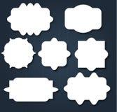 Abstract wavy shape sticker design Stock Image