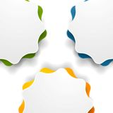 Abstract wavy shape vector background Royalty Free Stock Photography