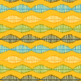 Abstract wavy shapes seamless background Stock Photos