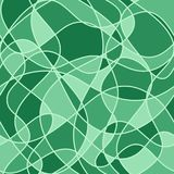 Abstract wavy shapes. vector seamless pattern. Green background Vector Illustration