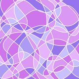 Abstract wavy shapes. vector seamless pattern. Pink and blue background stock illustration