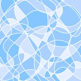 Abstract wavy shapes. vector seamless pattern. blue background. Textile paint. repetitive background. fabric swatch. wrapping paper vector illustration