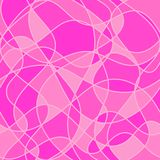 Abstract wavy shapes. vector seamless pattern. pink background. Textile paint. repetitive background. fabric swatch. wrapping paper Stock Illustration