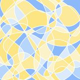 Abstract wavy shapes. vector seamless pattern. yellow and blue. Background royalty free illustration