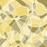 Abstract wavy shapes. vector seamless pattern. yellow and green. Background stock illustration
