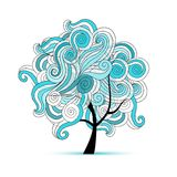 Abstract wavy tree for your design Royalty Free Stock Images