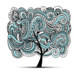 Abstract wavy tree for your design Royalty Free Stock Photos
