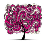 Abstract wavy tree for your design Royalty Free Stock Photo