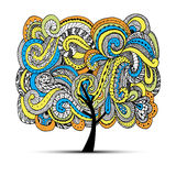 Abstract wavy tree for your design Royalty Free Stock Photography