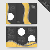 Abstract wavy tri-fold brochure template Stock Photos