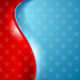 Abstract wavy usa stars background Royalty Free Stock Photography