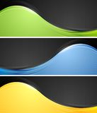 Abstract wavy vector banners Royalty Free Stock Images