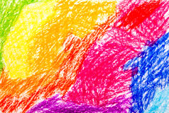 Abstract wax crayon hand drawing Stock Photos