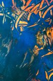 Abstract wax painting, detail. Encaustic, texture of abstract wax painting, composition image detail royalty free illustration