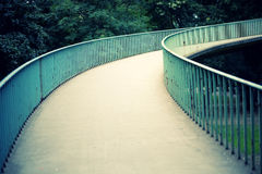 Abstract way. An abstract endless way up to a bridge in Cologne Stock Photography