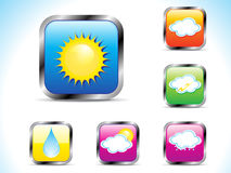 Abstract weather button icon Stock Photography