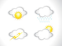 Abstract weather icons set Royalty Free Stock Images